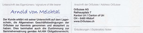 Bildsausschnitt eines Ordrelagerscheins mit dem Unterschriftsfeld für den Ersteigentümer