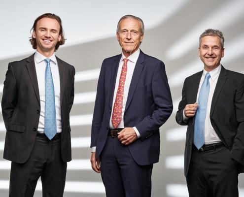 Bild der drei Verwaltungsräte der OrSuisse