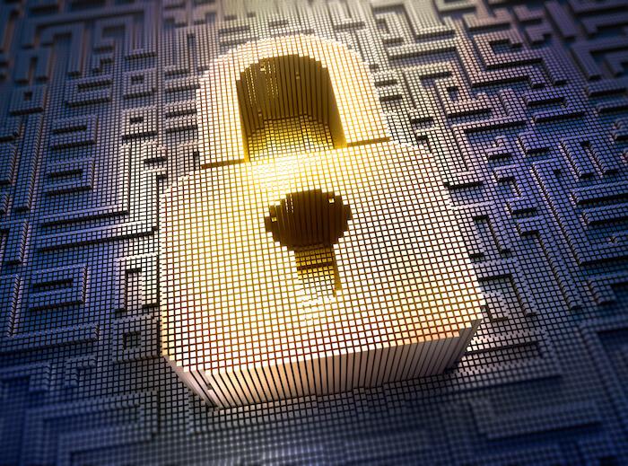 Lock as a security symbol
