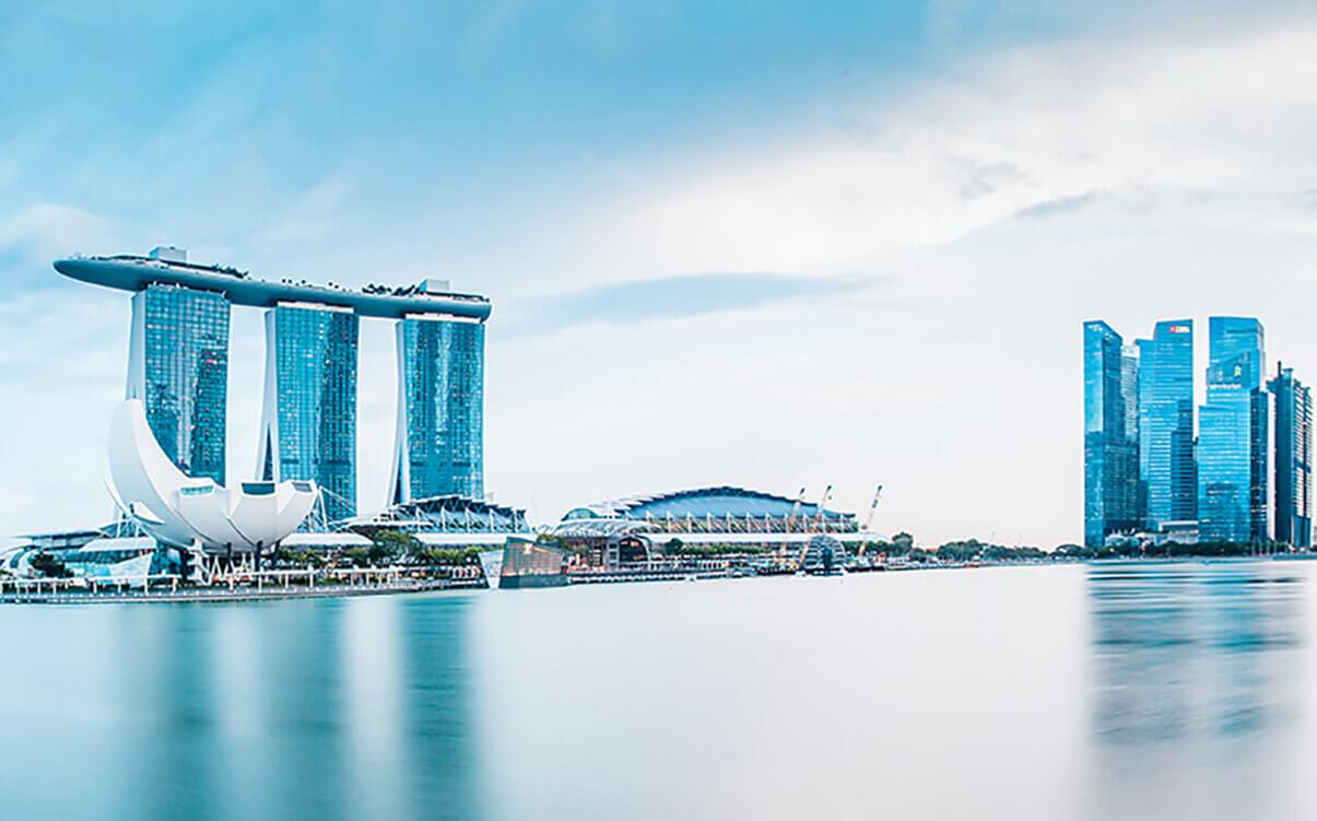 Image with a Singapore skyline