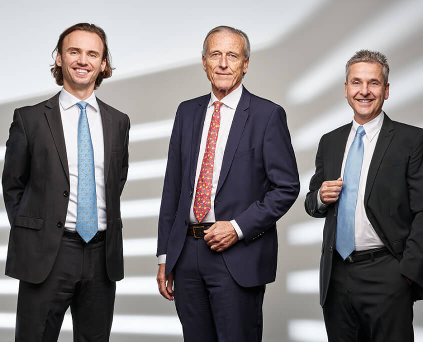 Picture of three members of the OrSuisse Board of Directors